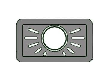 Deckplatte Stahl Treviso 320.15