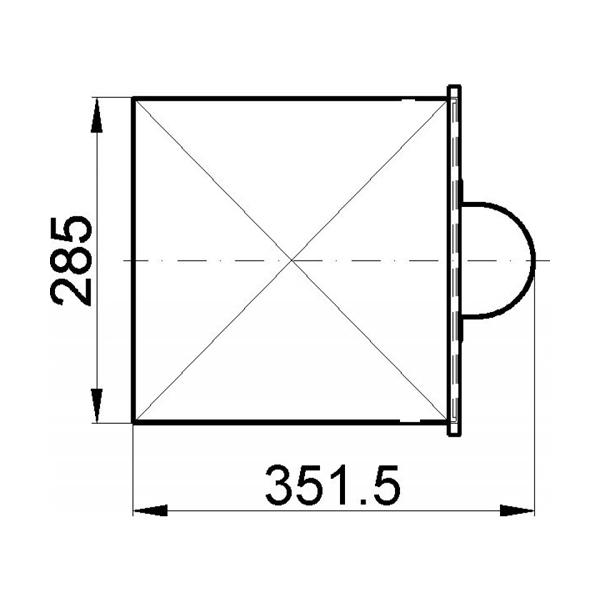 Aschekasten 351x285 gussgrau