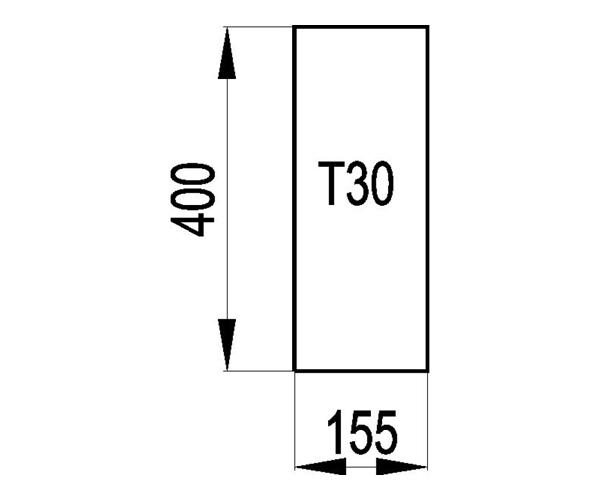 Schamott Seitenstein 141