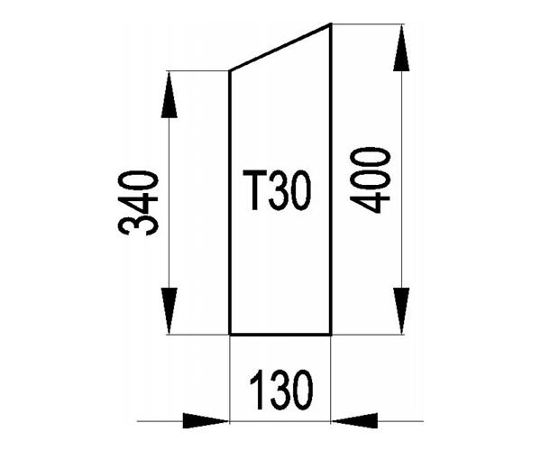 Schamott Seitenstein 159
