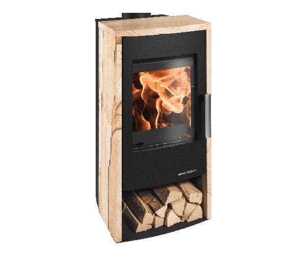 haas und sohn kaminofen rubus woodstone. Black Bedroom Furniture Sets. Home Design Ideas