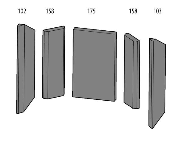 schamottesatz haas und sohn kaminofen typ 8. Black Bedroom Furniture Sets. Home Design Ideas