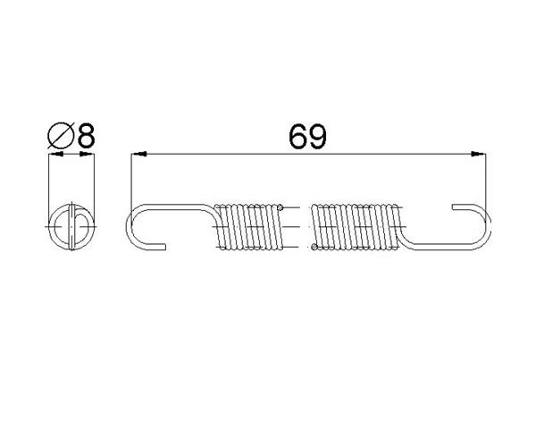 Türschließfeder 266.17