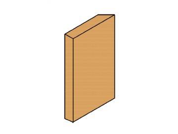 Schamott Diagonalstein links