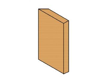 Schamott Diagonalstein rechts
