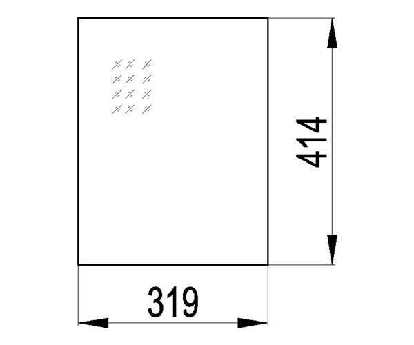 Kaminscheibe 414x319