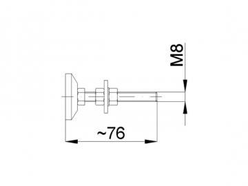 Stellfuss M8x60