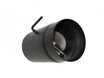 RR-500mm Senoterm® schwarz mit Drosselklappe