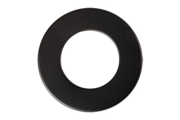 Rosette Senoterm® schwarz 5cm Rand