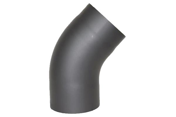 RR-Bogen 45 Grad Senoterm® gussgrau gezogen