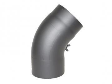 RR-Bogen 45 Grad Senoterm® gussgrau gezogen mit ROE