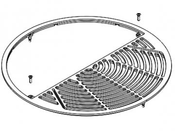 Deckplatte perl-grau