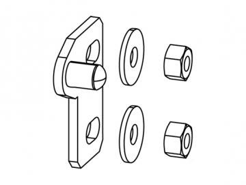 Türverschluss Gusstür 294/295 perl-grau