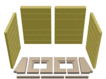 Schmid Vermiculitesatz Lina 12057h Mauerwerksoptik