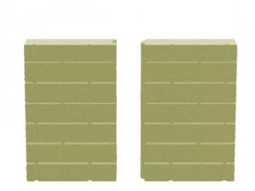 Schmid Vermiculite Rückwand Kamineinsatz Ekko 67(45)45