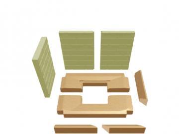 Schmid Vermiculitesatz Kamineinsatz Ekko R 67(45)45