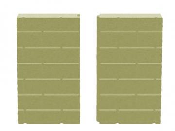 Schmid Vermiculite Rückwand Kamineinsatz Ekko 67(45)51