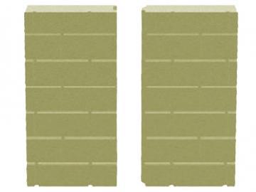 Schmid Vermiculite Rückwand Kamineinsatz Ekko 67(45)57