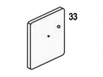 Zugtürblende weiss HSD76 HSD86 rechts
