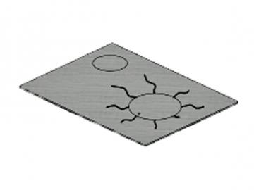 Stahlplatte HSD-75 Lack links