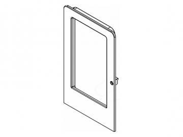 Heiztür schwarz ohne Glas
