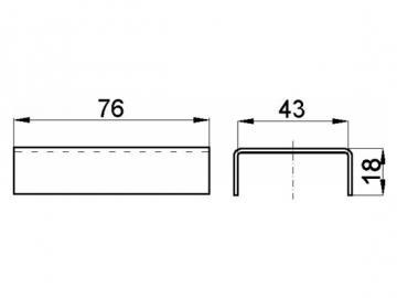 Steinhalterung 76x43