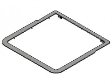 Rahmen anthrazit HSP 2