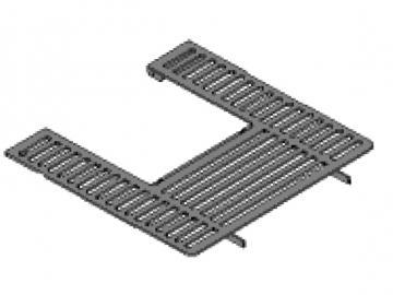 Deckplatte HSP 2 schwarz