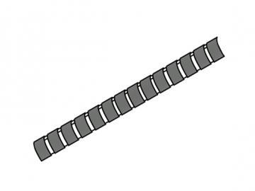 Spiralschutz Rohrleitung