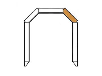 Schamott Diagonalstein 100