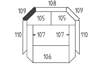 Schamott Diagonalstein 109