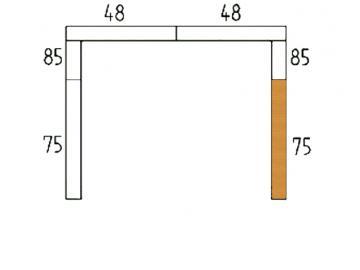Schamott Seitenstein 75