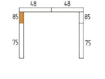 Schamott Seitenstein 85