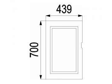 Kaminscheibe 700x439