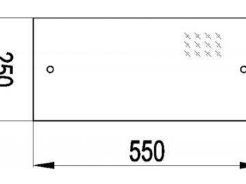 Deckplatte Glas Kaminofen Imatra 212.17