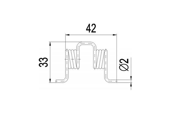 Türschließfeder 42x33
