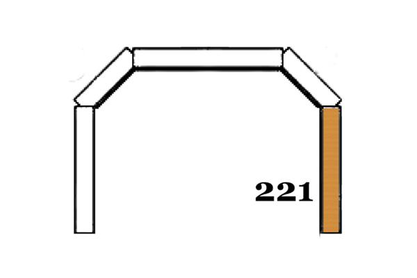 Schamott Seitenstein 221