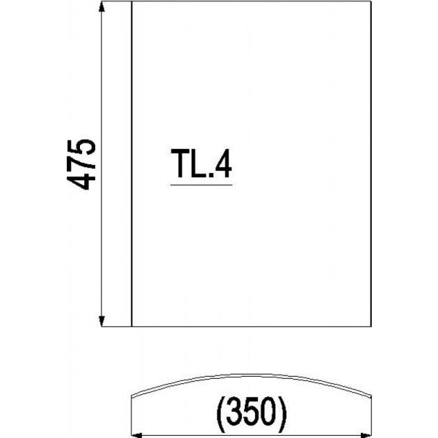 Kaminscheibe 475x350 gebogen