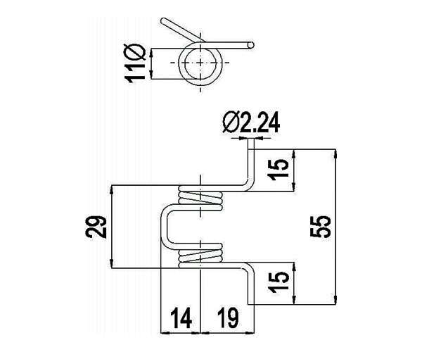 Türschließfeder D11-55