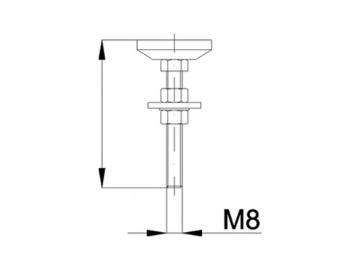 Stellschraube M8x40